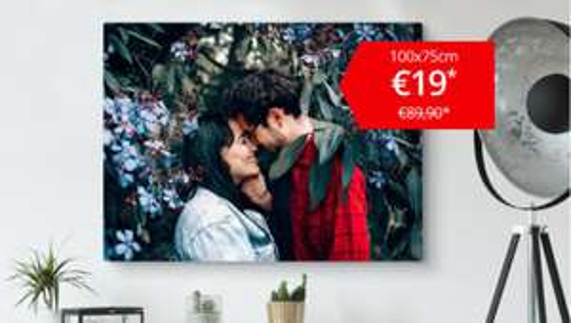 ACTIE: XL Canvas 100x75 cm €19 @ Bestecanvas.nl