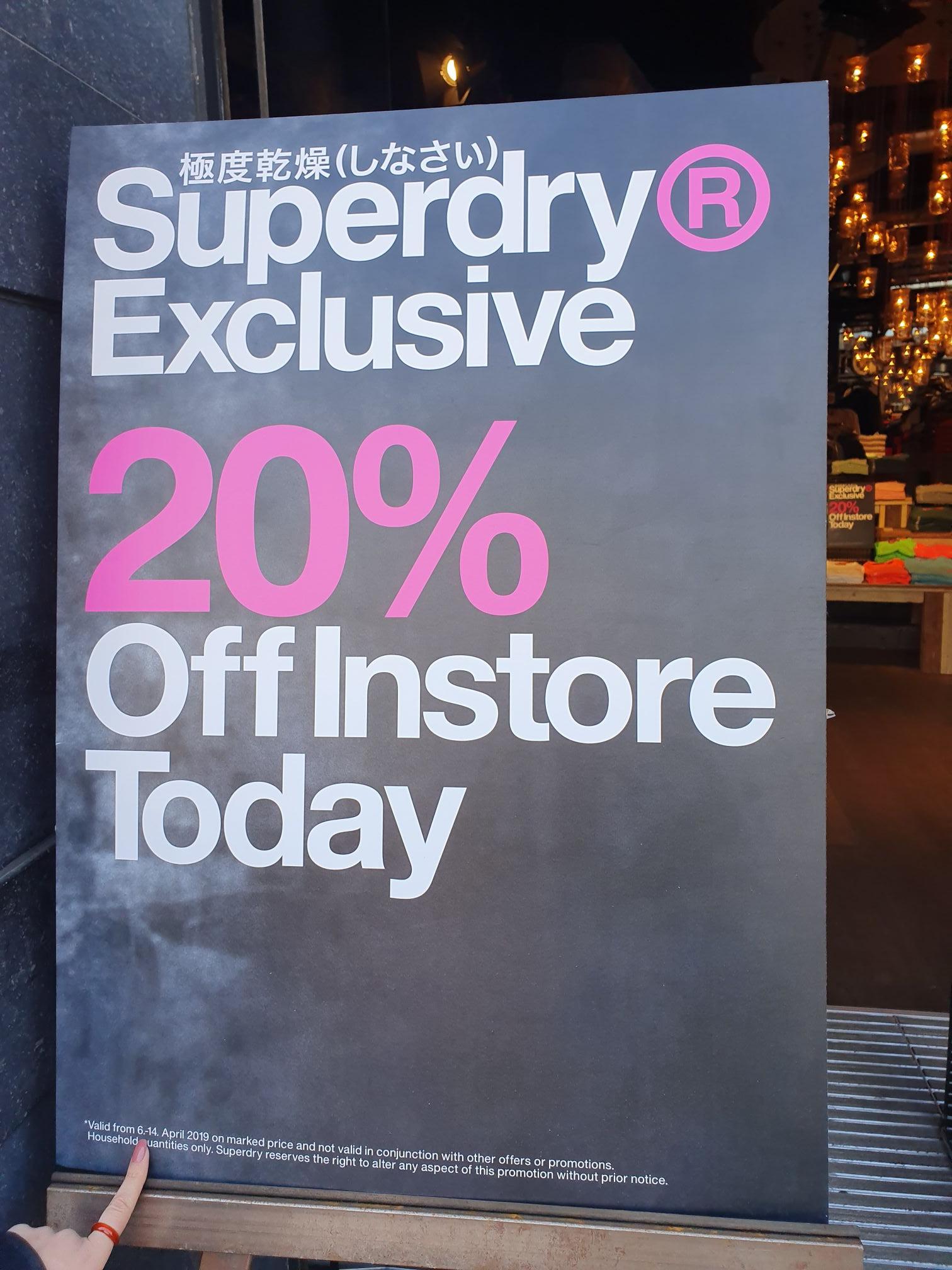 20% extra korting bij Superdry Utrecht oude gracht