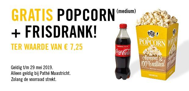 Gratis popcorn en drinken bij Pathé Maastricht