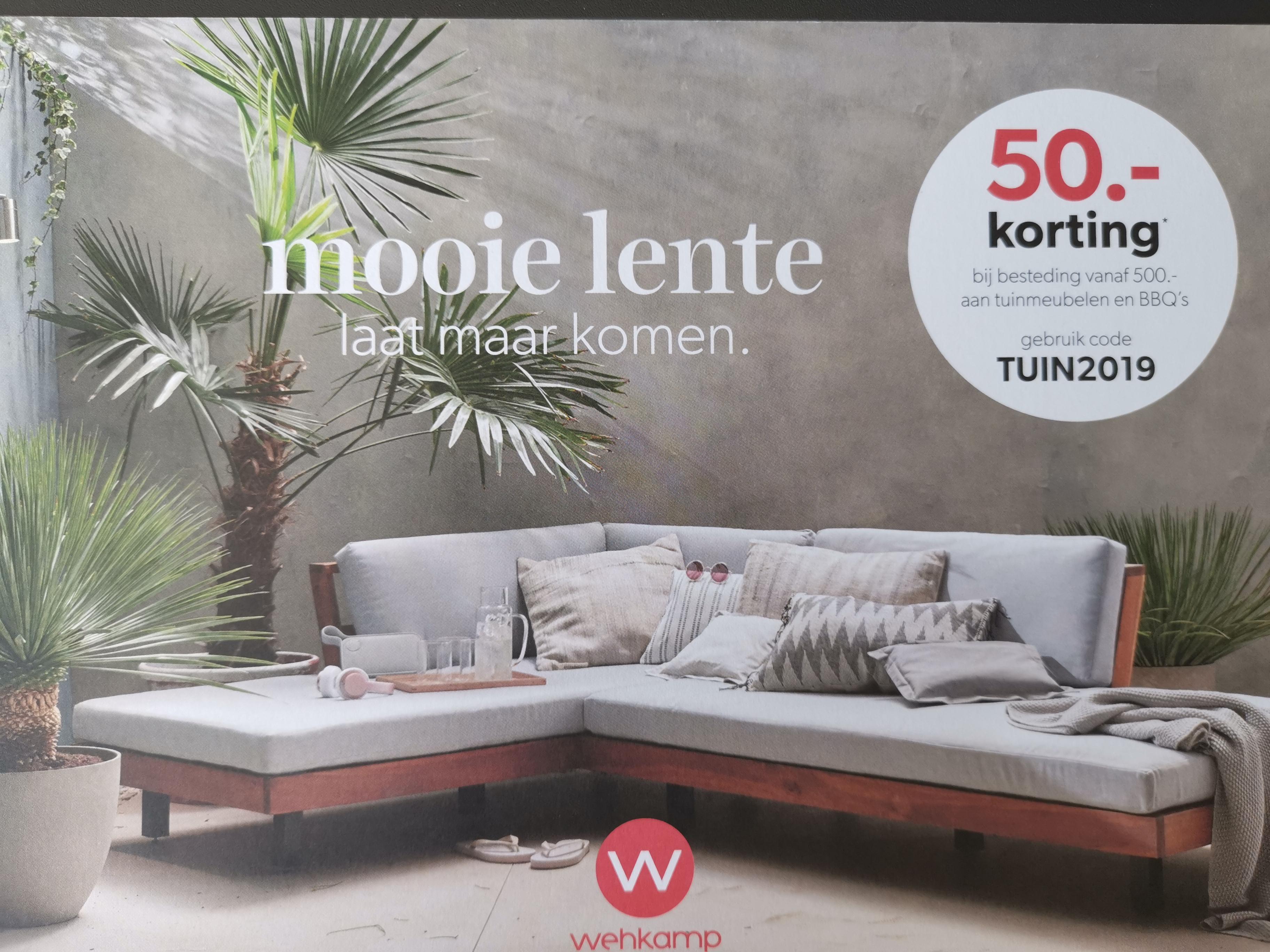 €50 korting bij bestelling vanaf €500 aan tuinmeubelen en BBQ's @ Wehkamp
