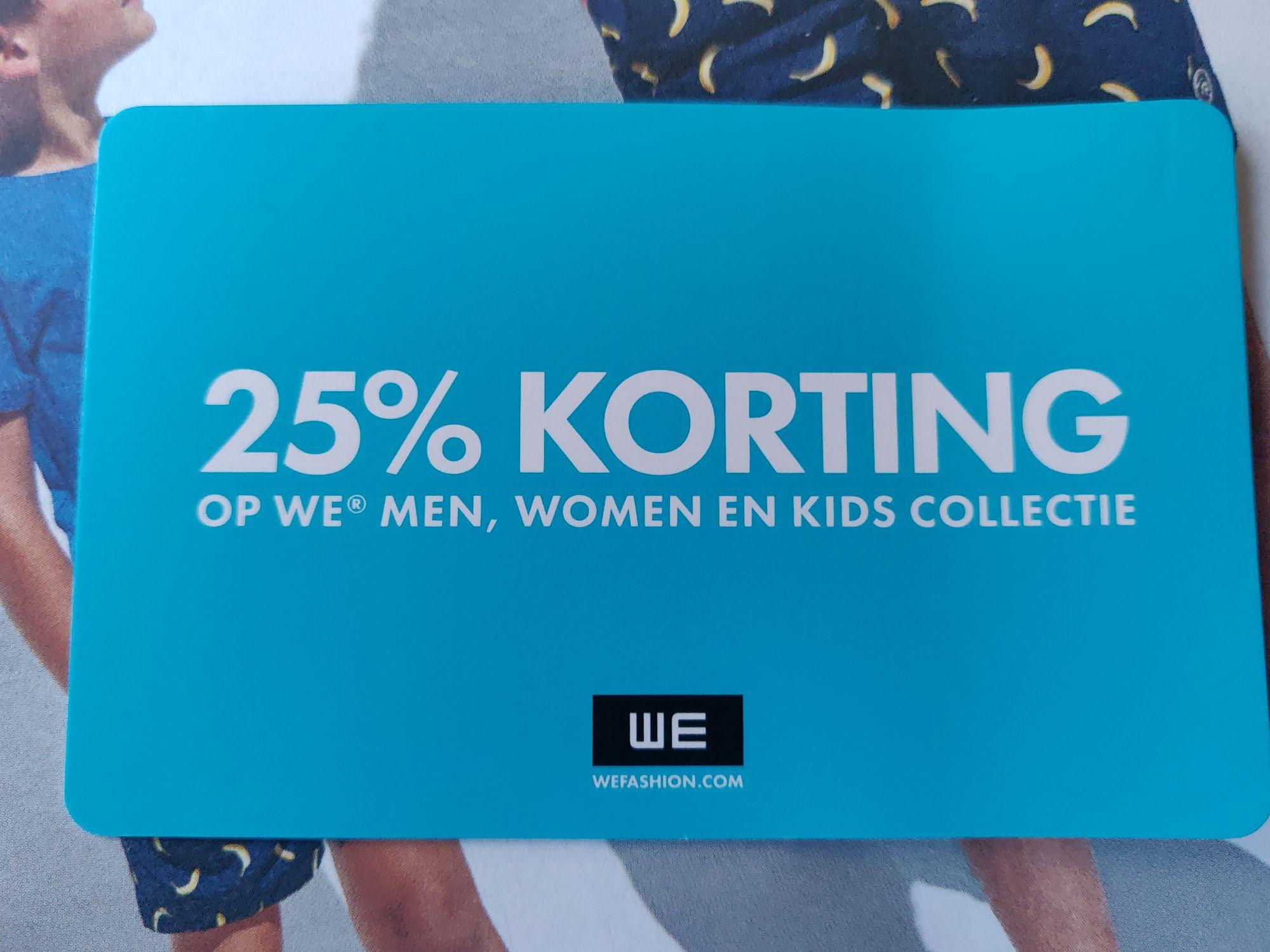 25% korting op artikel naar keuze @ WE Fashion