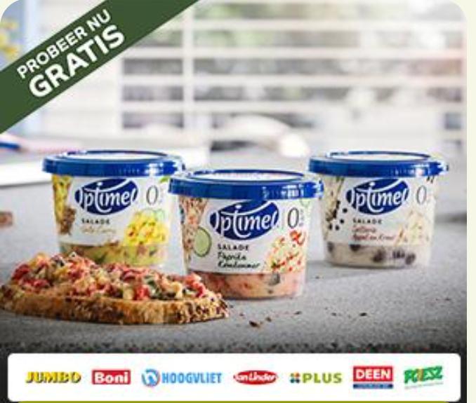 Probeer gratis Optimel Salade 175g @eurosparen