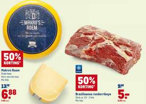 Makro deals: bv. do18apr Braziliaanse ribeye (diepvries). 5,45eur/kg. -50%.