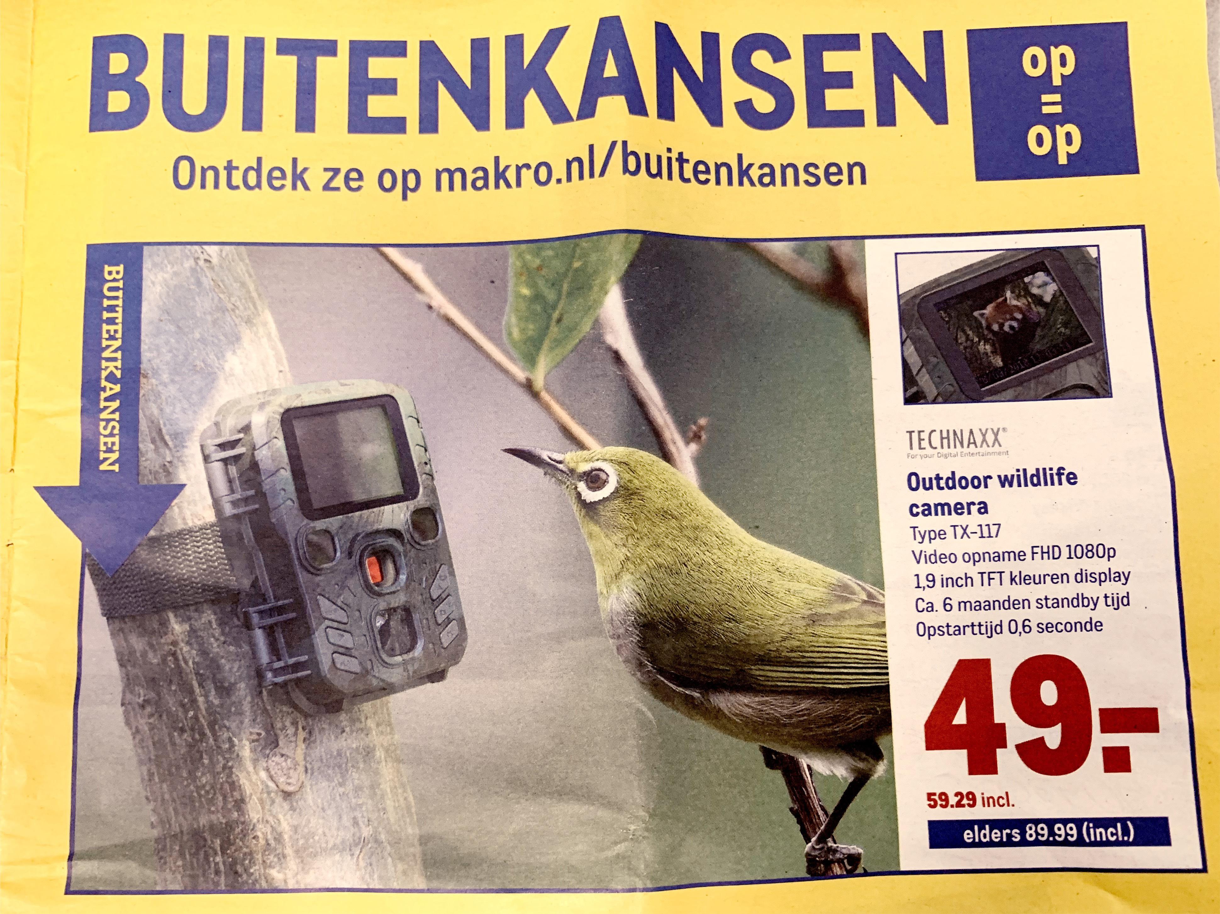 Technaxx outdoor wildlife camera Voor 49,- excl btw bij Makro