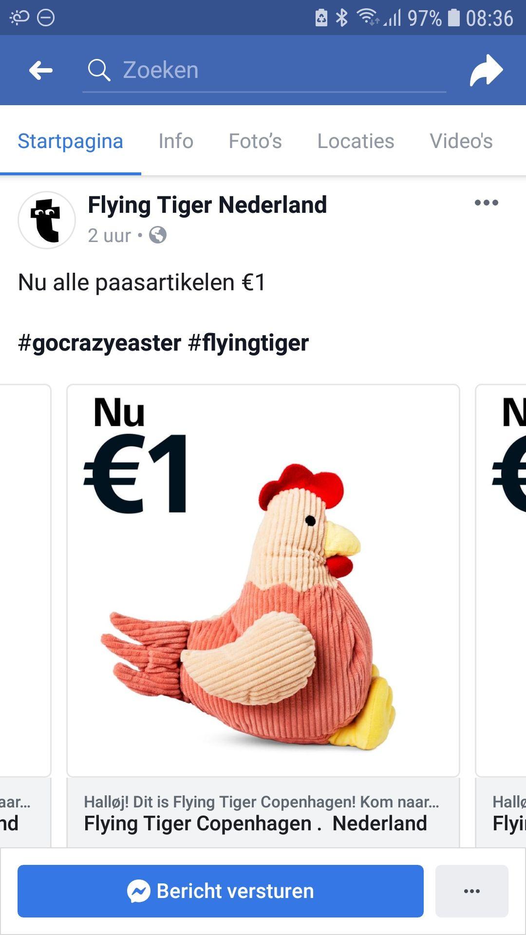 Flying Tiger - alle paasartikelen 1 euro