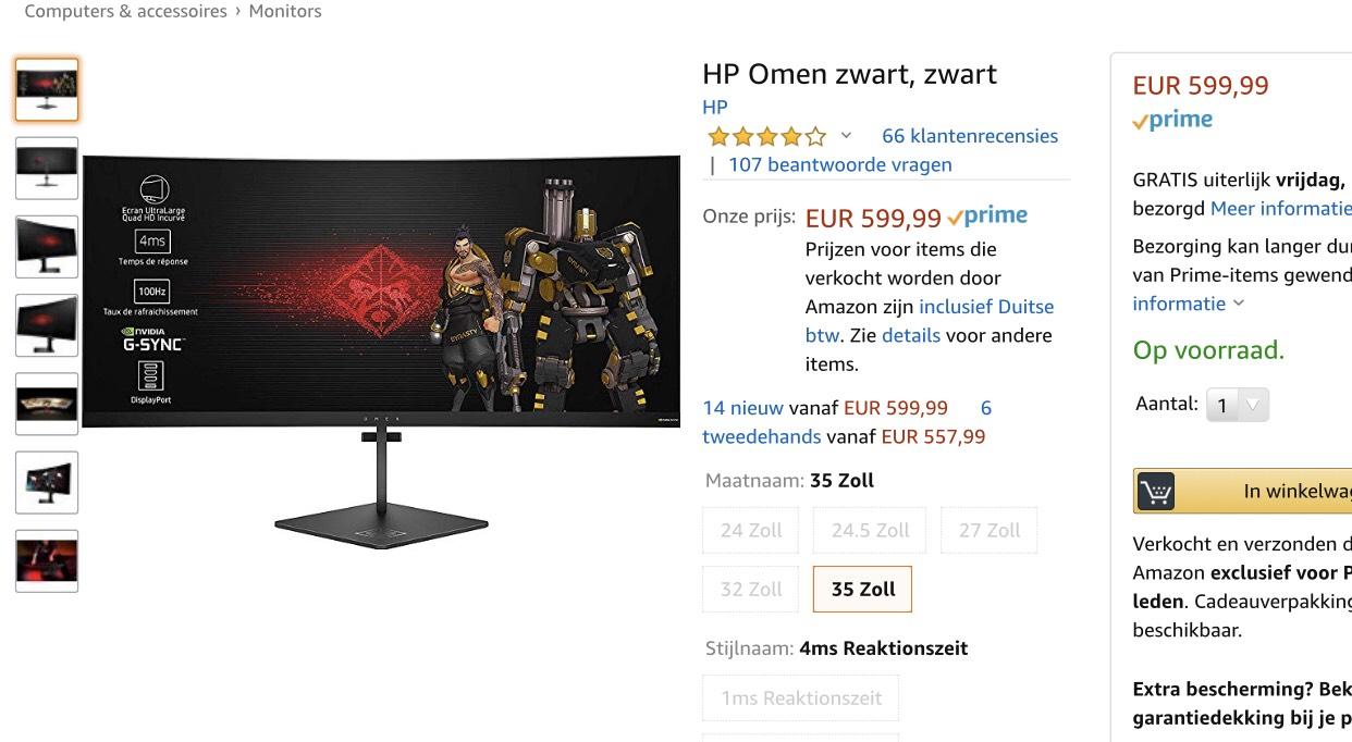 "[Amazon Deal] HP Omen X 35"" Gsync monitor"