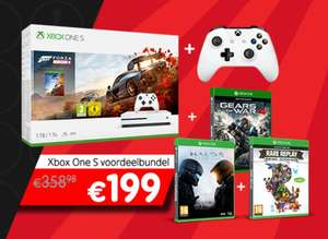 Xbox One S 1TB + Forza Horizon 4 + Extra Controller + Gears of War 4 + Halo 5 + Rare Replay  (+meer bundels) @ Game Mania