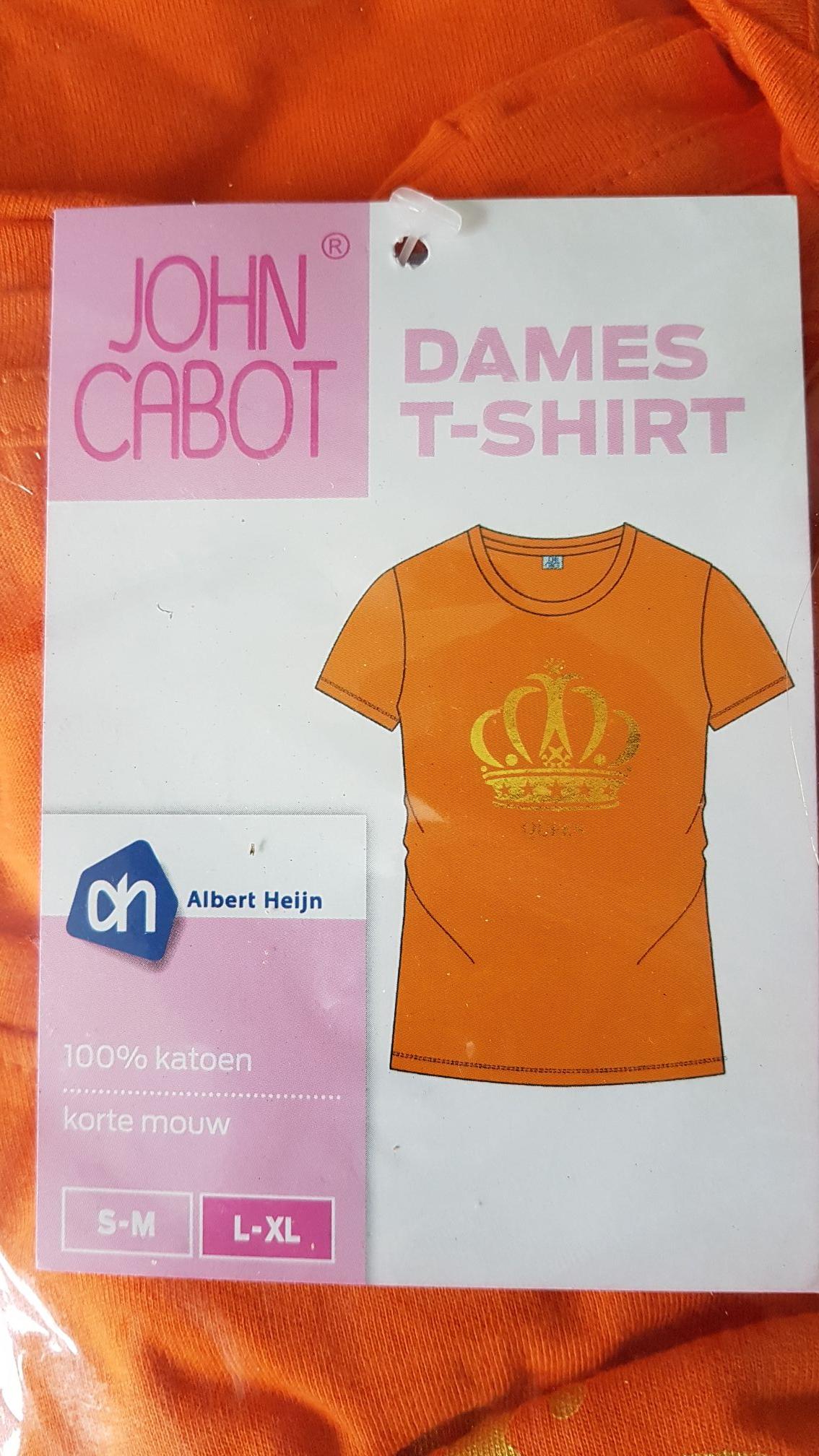 Oranje t-shirts dames, heren, en kinderen