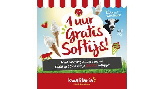 VANDAAG: Gratis ijsje van 14-15.00 bij de meeste Kwalitaria