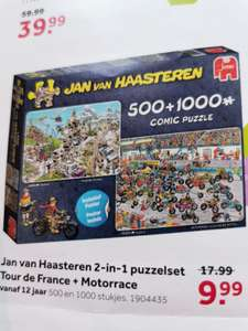 Jan van Haasteren 2-in-1 puzzelset Tour de France + Motorrace van € 17,99 nu voor € 9,99 @Intertoys