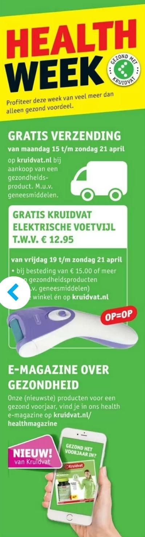 Gratis verzending bij aankoop van een gezondheidsproduct op Kruidvat.nl (+Gratis electrische voetvijl)