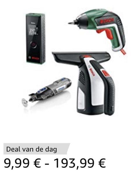 Tot 50% korting op geselecteerde Bosch en Dremel producten