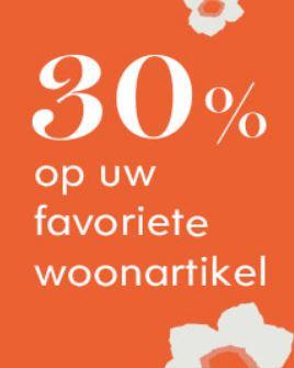 Met code 30% korting op wonen (ook sale) @ Heine