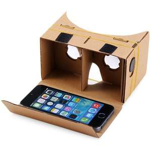 Cardboard Virtual Reality bril 3.5 - 5.5 inch voor €0,81 @ Everbuying