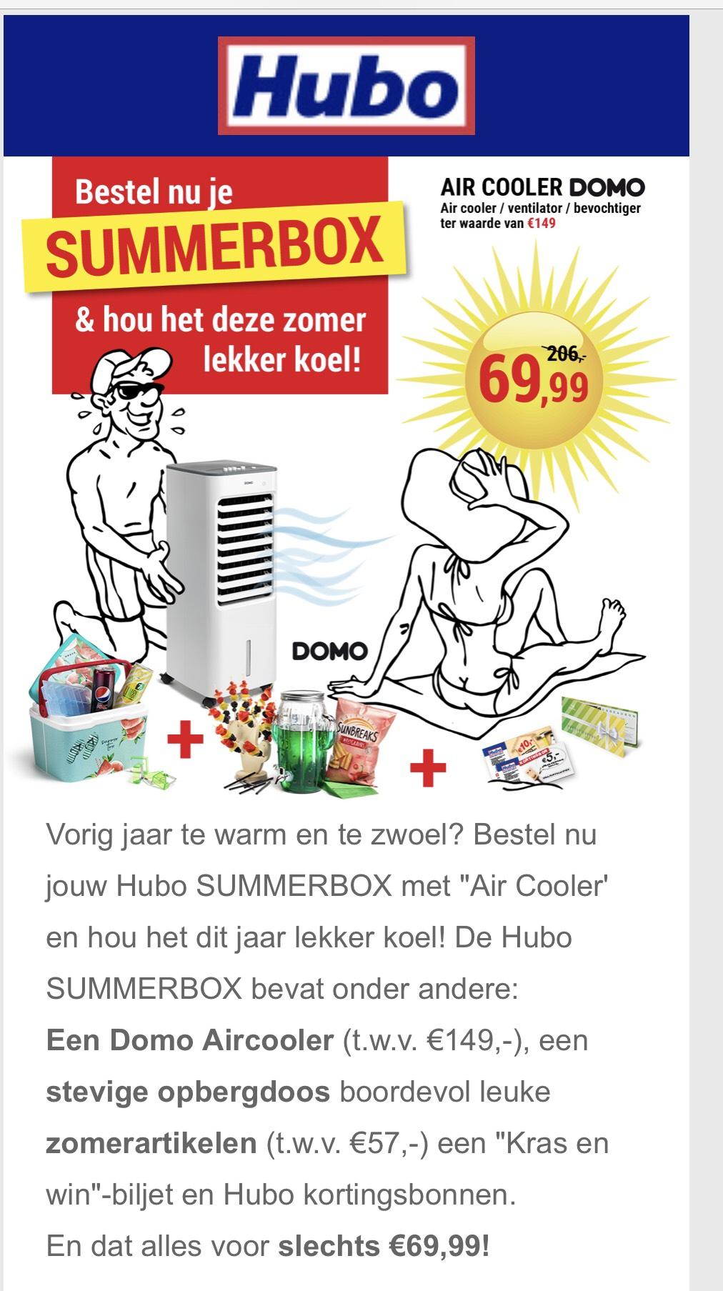 Grendsdeal belgie summerbox hubo 69,99 ipv 206