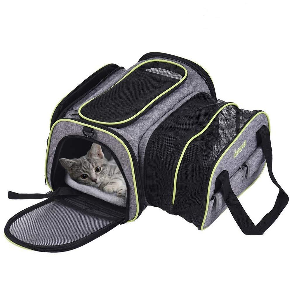 Handige reistas kat of hond met uitklapdelen voor €21,69 bij Amazon.de
