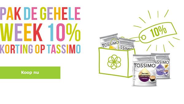 10% korting op alles door vouchercode @ TASSIMO Shop