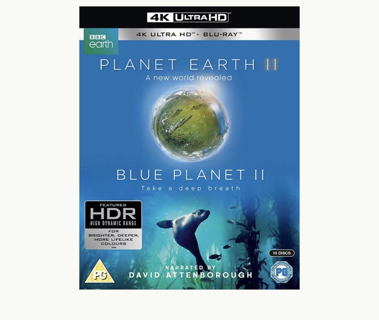 Planet Earth 2 + Blue Planet 2 UHD Blu ray