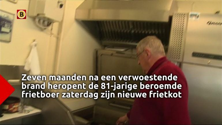 Frietboer icoon 'De Fer' heropent na brand a.s. zaterdag met Gratis friet [Breda]