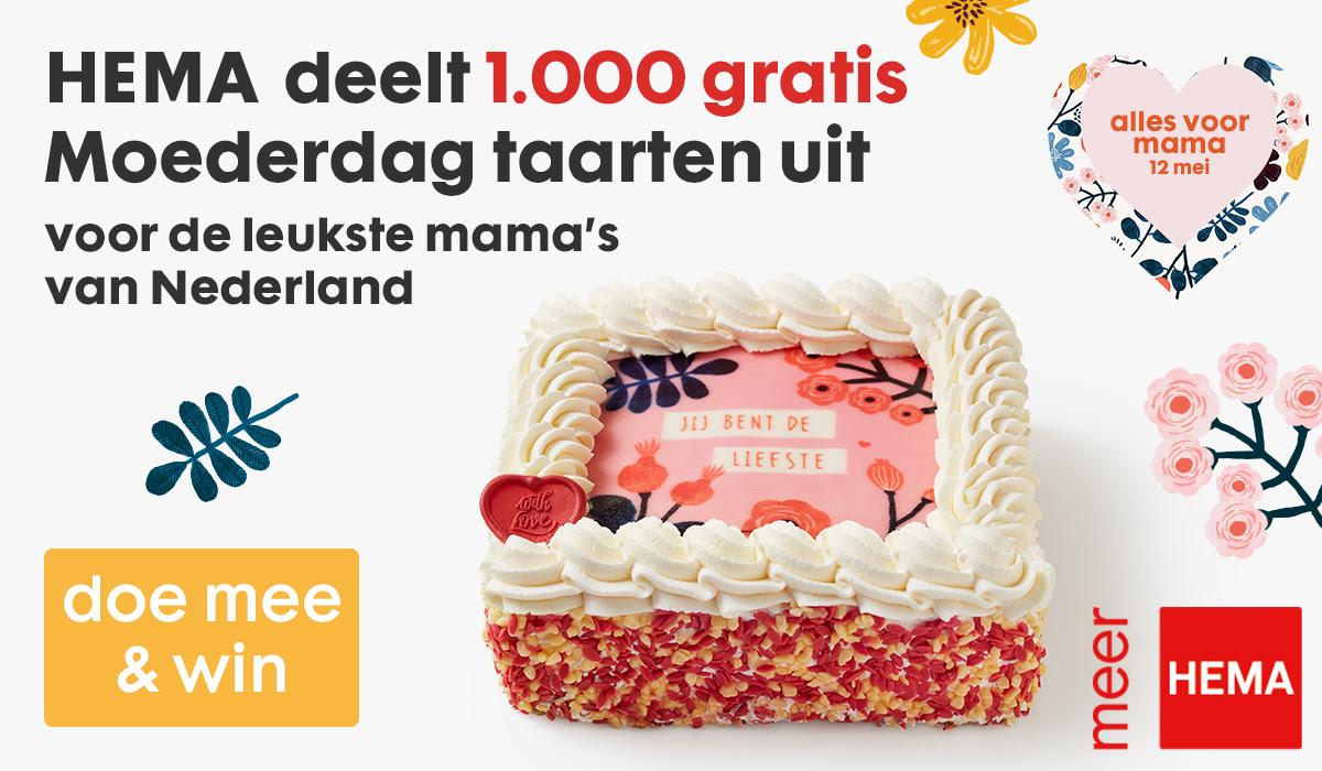 Redelijke kans op een gratis moederdag slagroomtaart (1.000 stuks) @ HEMA (klantenpas geregistreerd)