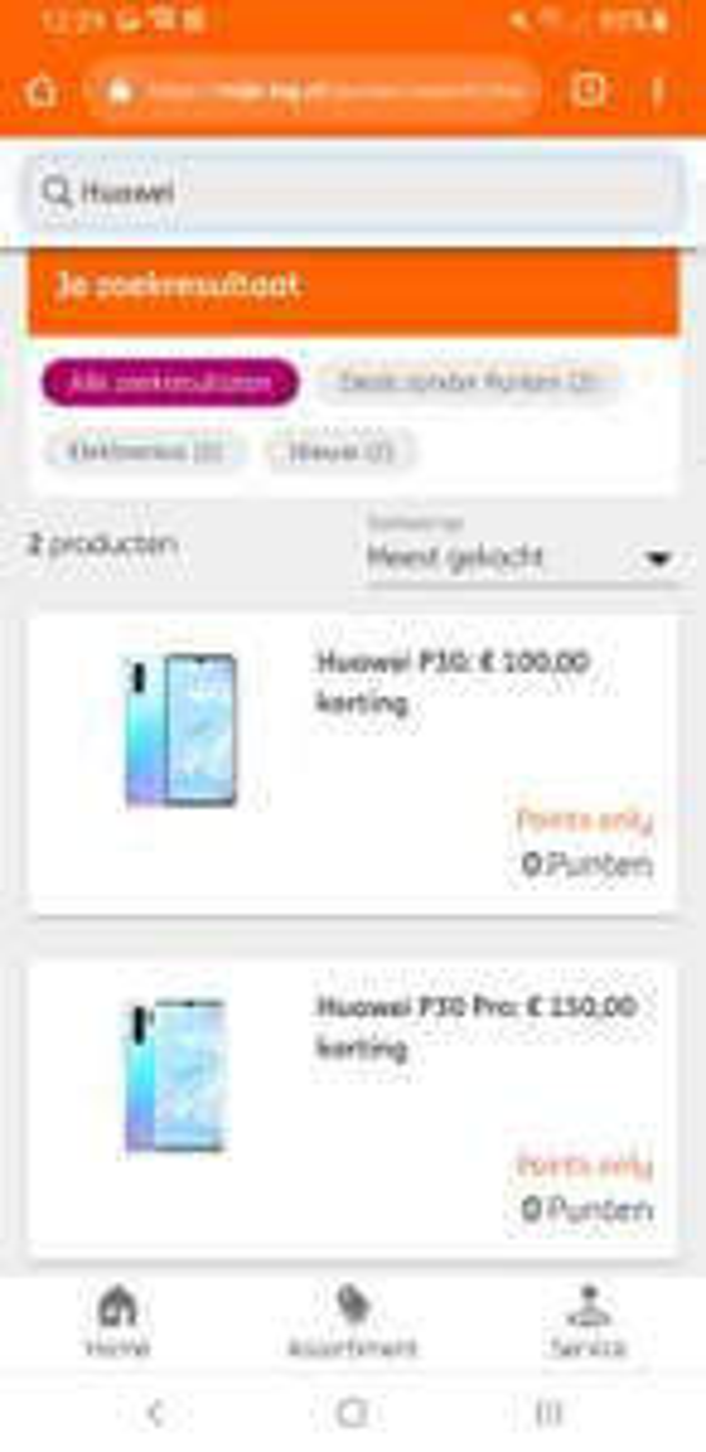 100 of 150 euro korting op de huawei p30 ( pro ) via ing en mobiel.nl