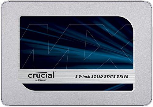 Crucial MX500 2TB - Interne SSD, harde schijf, 6,4 cm / 2,5 inch, 3D NAND, SATA, zilver @Amazon.es