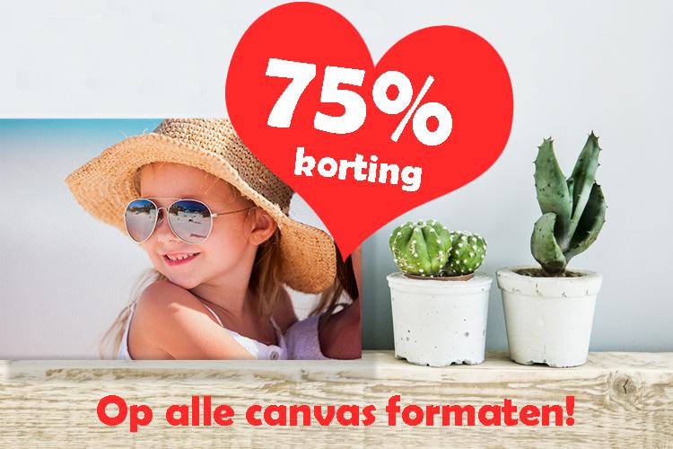 Moederdag actie - Korting op alle canvas formaten! 20x20 cm t.w.v. € 1,50