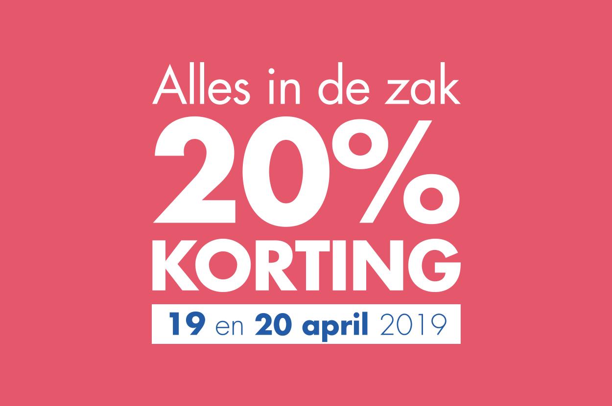 @Etos Op 19 en 20 april ontvang je 20% korting op ALLES*! (online en in de winkel)