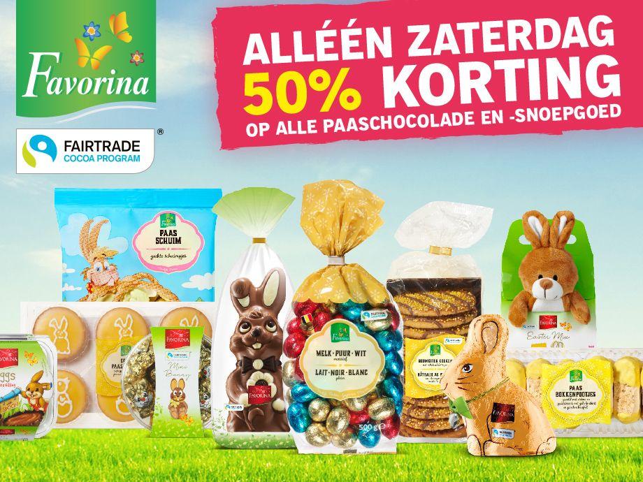 50% korting op alle Paaschocolade + snoepgoed @Lidl