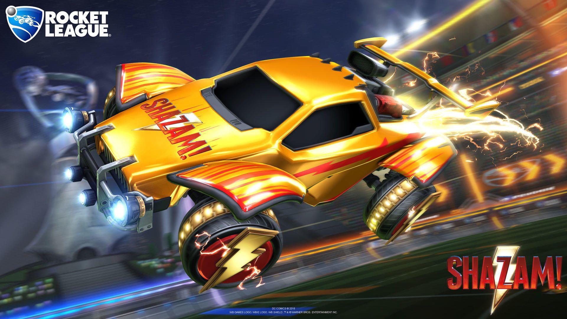 Rocket League: GRATIS Shazam! wheels en decal
