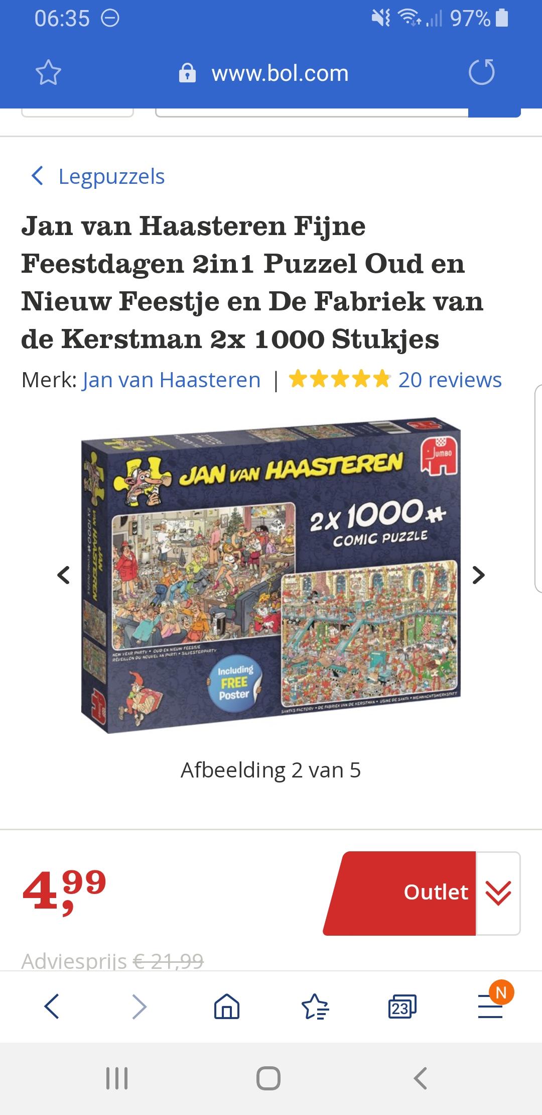 Jan van Haasteren puzzels (2 x 1.000)