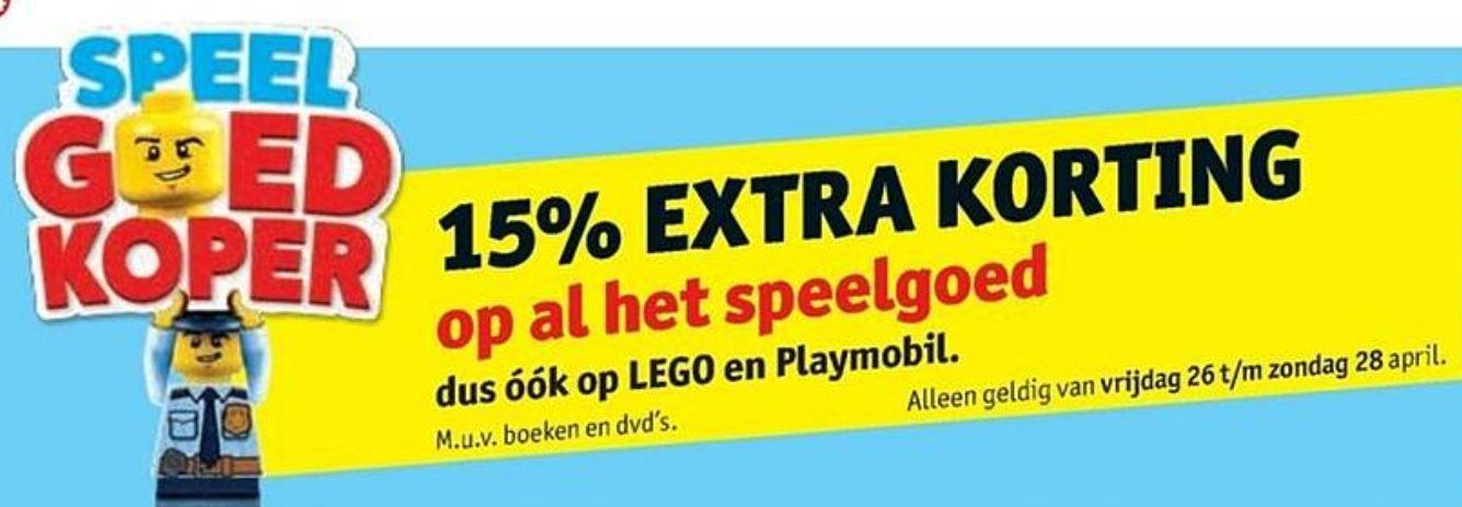 15% extra korting op al het speelgoed @Kruidvat