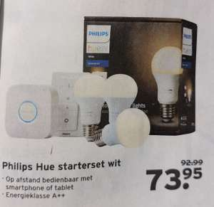 Koningsacties @ Gamma. Philips hue starters set wit, € 73,95. Vanaf dinsdag 23 april