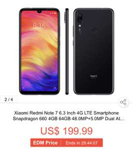 Xiaomi Redmi Note 7 4gb / 64gb global @geekbuying