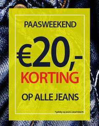 €20,- korting op broeken @Jeansinn