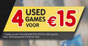4 USED games ( PS3/Xbox 360/Wii/PS2/Nintendo DS/PSP) voor €15