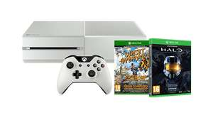 Xbox One Console Wit + Sunset Overdrive + Halo: The Master Chief Collection voor €349 @ Microsoft Italië