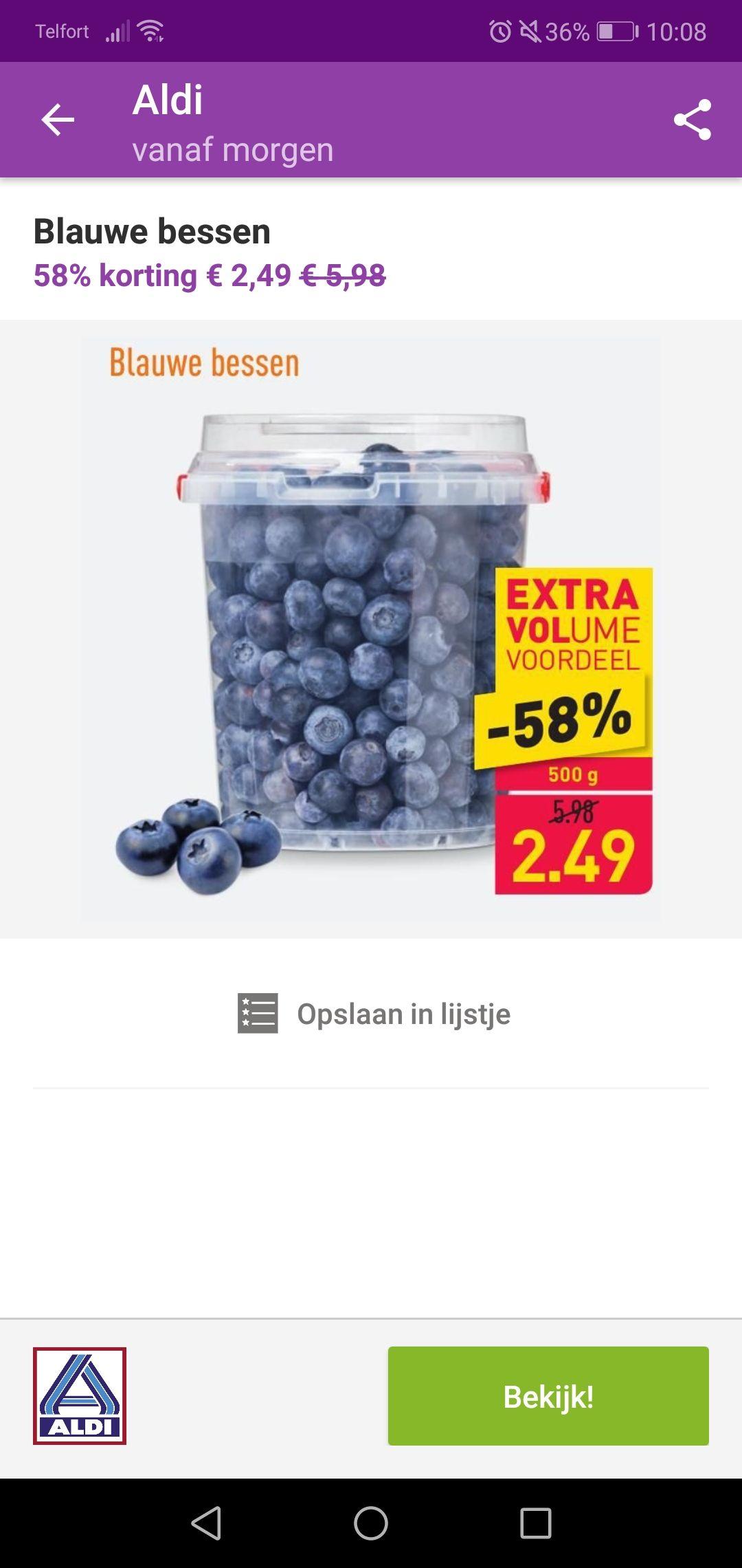 Blauwe Bessen 58% korting