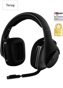 Logitech Gaming Headset G533 Koptelefoon, draadloos, DTS 7.1 surround sound, zwart