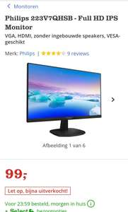 Philips 223V7QHSB - Full HD IPS Monitor