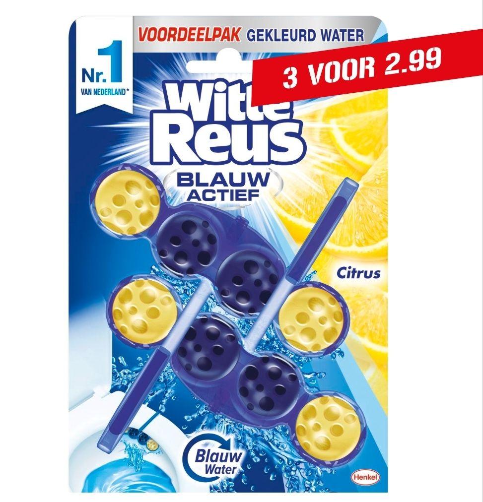 Witte Reus Blauw Actief Citrus 3 duo pakken (6 stuks) voor €2,99 bij Coop (83% korting!)