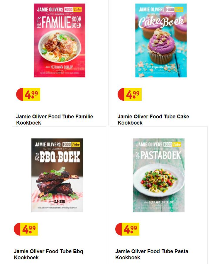 Jamie Oliver FoodTube kookboeken €4,99 @ Kruidvat