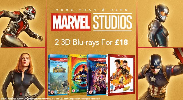 Marvel (3D) Blu-ray / UHD actie (UK import, prijs is per 2 stuks)
