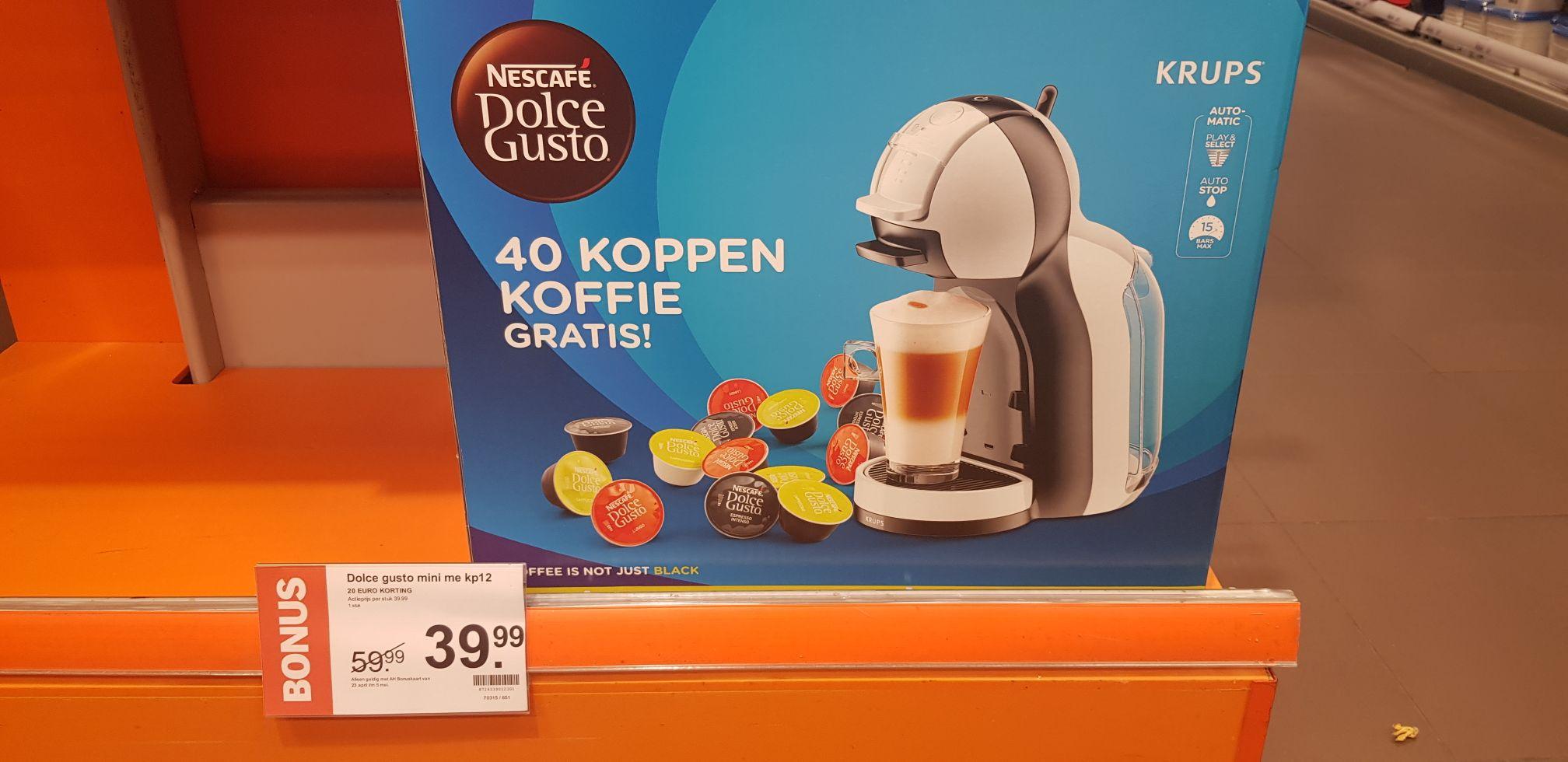 Dolce Gusto Mini Me + 40 cups koffie bij inleveren van 1000 airmiles