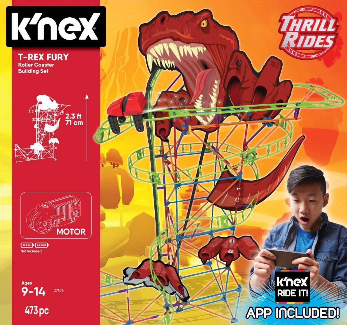 K'nex Thrill Rides Dino T-Rex Fury Achtbaan voor €19,99 @ Bol.com