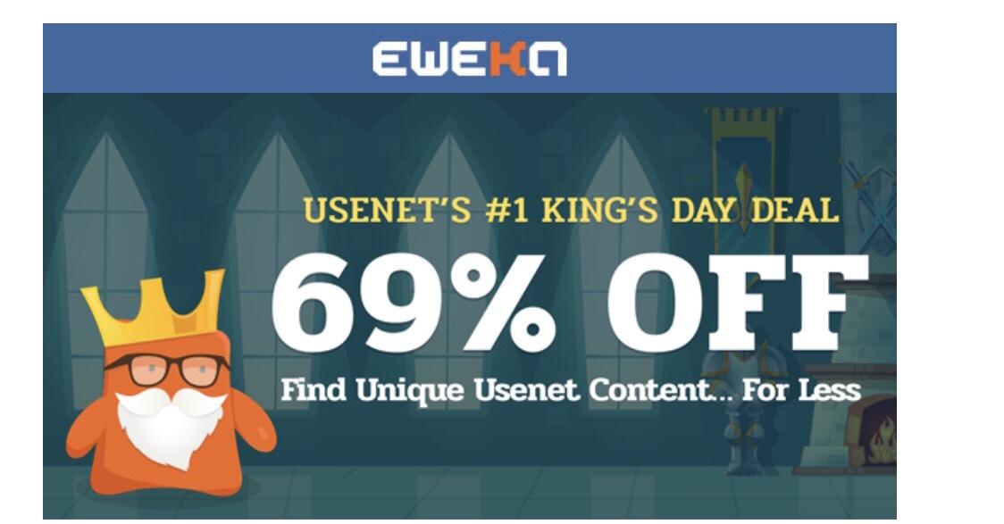 48-69% korting op usenet abonnement Eweka