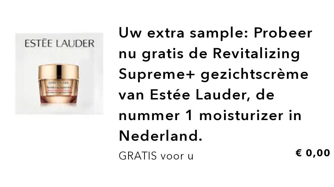 Gratis extra Estée Lauder sample bij elke aankoop bij Douglas
