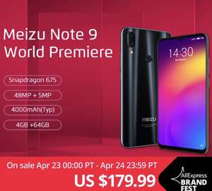 Meizu note 9 4gb 64gb global @aliexpress