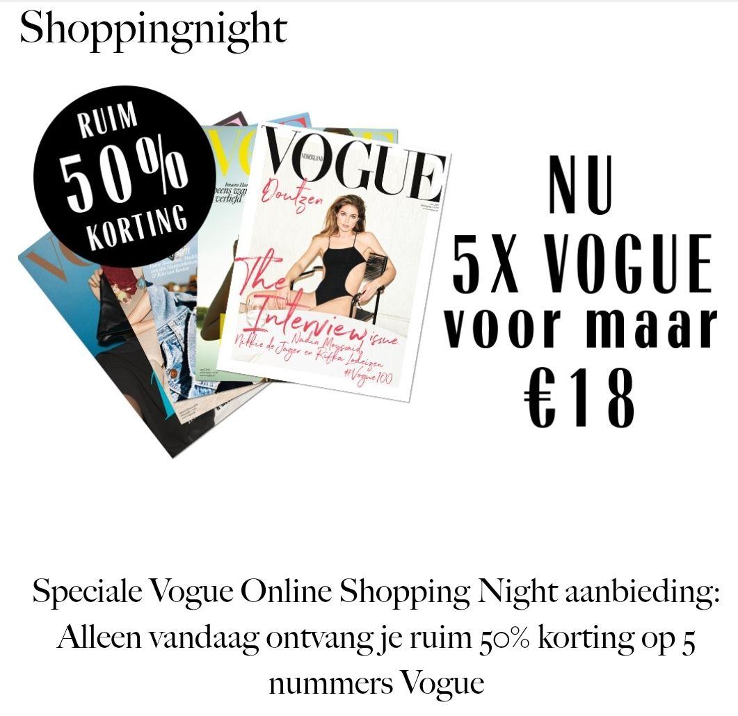 Alleen vandaag: 5 keer Vogue voor €18,-