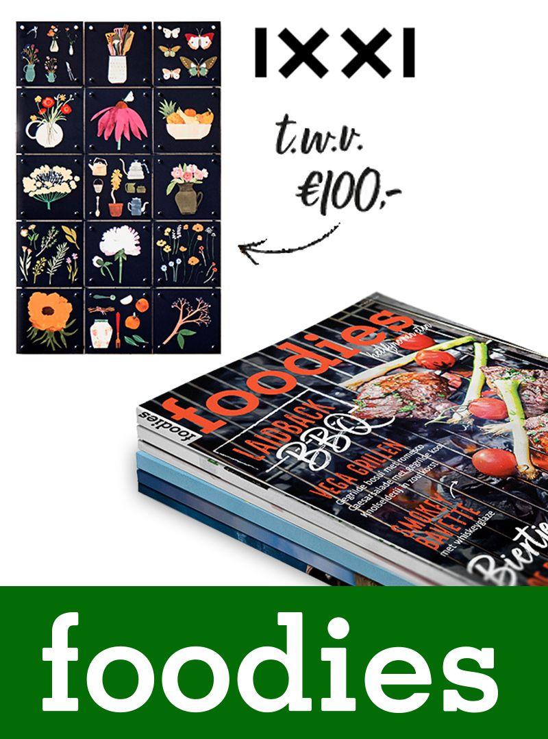 IXXI cadeaubon twv €100,- bij een Foodies magazine abonnement